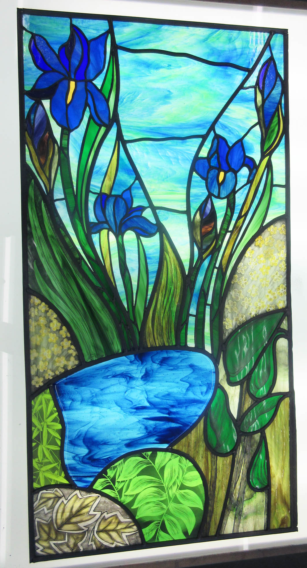 A Stained Glass Door Panel Commission